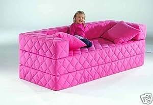 1a schlafsofa 10 versch farben ideal f r kinder pink. Black Bedroom Furniture Sets. Home Design Ideas