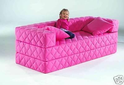 Schlafsofa kinderzimmer  1A Schlafsofa! 10 versch. Farben! Ideal für Kinder (pink): Amazon ...