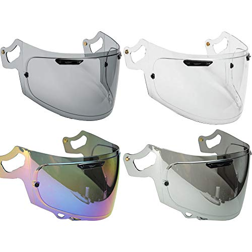 Visiera Casco Arai RX7v - RX7x - Chaser-X - Corsair-X - Signet-X - Quantum-X - RX7 v - RX7 x Vas-V - Max Vision Trasparente Fume' Iridium Specchio Pinlock Ready Aftermarket (Fume' Scuro)