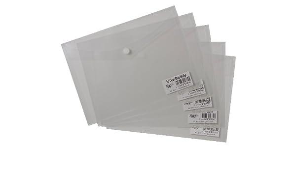 Tiger A3 Dokumentenmappe Mit Druckknopf 25 St/ück Transparent Brieftaschen Kunststoff