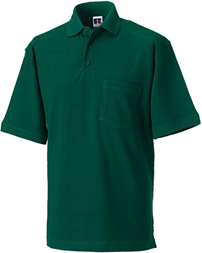 Russell Collection Strapazierfähiges Piqué Arbeits-Poloshirt R-011M-0 Bottle Green