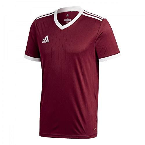 adidas Tabela 18 Jersey Camiseta, Hombre, Granat/Blanco, S