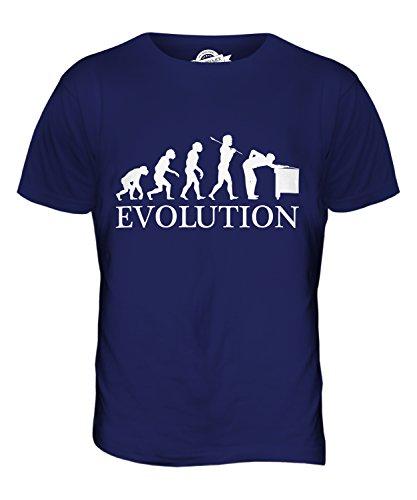 CandyMix Snooker Evolution Des Menschen Herren T Shirt Navy Blau