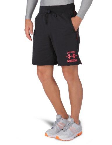 Under Armour-Pantaloni corti da uomo Eu Cotton, Uomo, Funktionsbekleidung EU COTTON SHORT, nero/rosso, XL