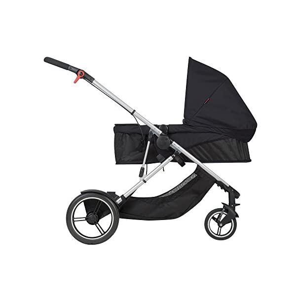 phil&teds Voyager Buggy Pushchair, Black phil&teds 4-in-1 modular seat! the most adaptable seat yet with four modes, parent facing, forward facing, lie Revolutionary stand fold with 2 seats on. Adjustable handlebar with hand-mounted brake Double kit easily converts to lie flat mode as well. 3