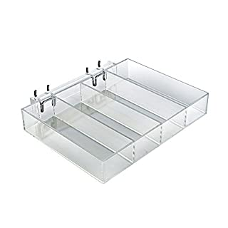 Azar Displays 225544-2pack Four-Compartment Tray for Pegboard/Slatwall (Pack of 2)