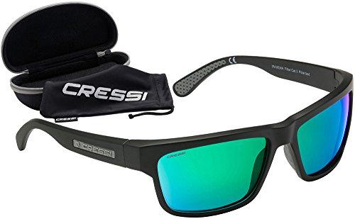 Cressi Ipanema Gafas de Sol, Unisex Adulto, Gris/Lentes Espejados Verde, Talla Única