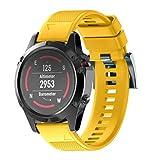 Bestow Garmin Fenix 5 Reloj GPS Silicagel de Instalacišn rš¢pida Band Strap Band Reloj Inteligente Electršnica Gadgets(Amarillo)