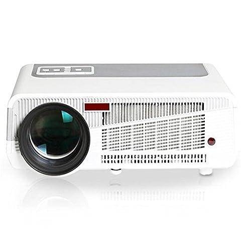 Rot und Blau 3D Beamer, 3000 Lumen Auflösung 1280 * 800, unterstützt High-Definition 1080P Video, LED LCD Heimkino und kommerziellen Projektor - Film / Spiele / Konferenz / Lehre / Demonstration