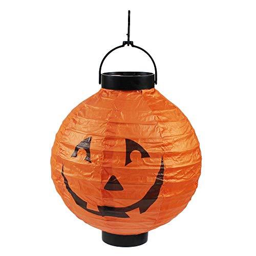 Vektenxi Halloween Kürbis Laterne, LED Papier Lampe Fledermaus Licht Laterne für Halloween Party Bar Haunted House Hänge Dekorationen Gelb + Schwarz Langlebig und praktisch