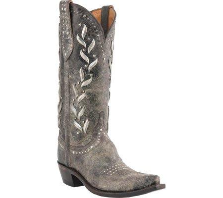 Lucchese  M4621, Bottes et bottines cowboy femme Marron - Marron foncé