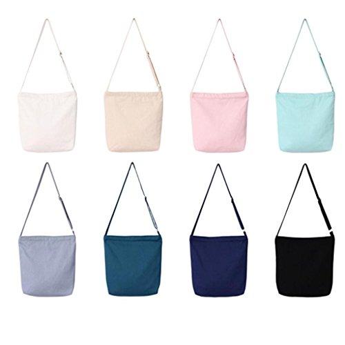BZLine® Frauen Leinwand Shopping Handtasche Tote Shopper Taschen, 35cm(L)*37cm(H)*8cm(W) Beige