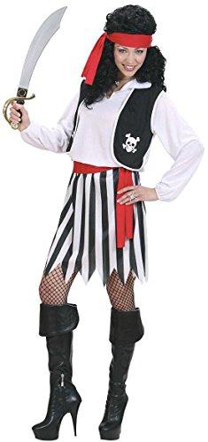 chsenenkostüm Piratin, Hemd mit Weste, Rock, Gürtel und Kopftuch, Größe L (Piraten Kostüme Stiefel)