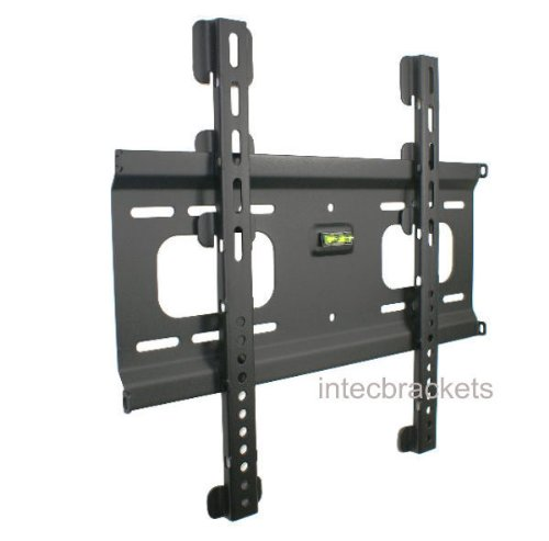 Intecbrackets® - 20mm flat slim to the wall fitting TV bracket fits TVs 37 40 42 43 46 47 50 51 52 55 weight rated to 75 kgs complete with all fittings and a