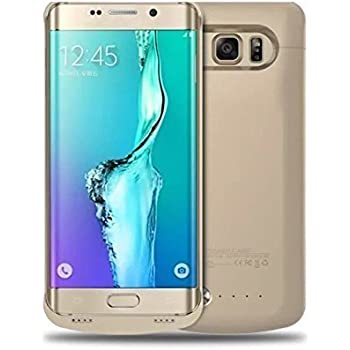 Eximtrade Portable 5800mAh PowerBank Batterie Externe Cas Chargeur pour Samsung Galaxy S6 Edge Plus (Or)