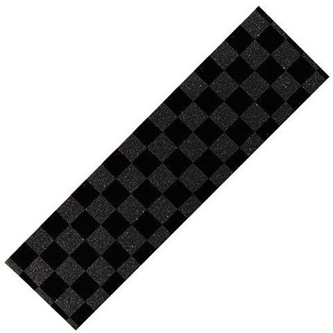Scooter-Trottinette-Damier noir/gris