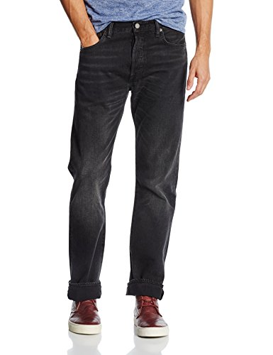 Levi's 501 Original Fit Men's Jeans,, Black (BLACK PATH STRONG 2293), 34W x 34L