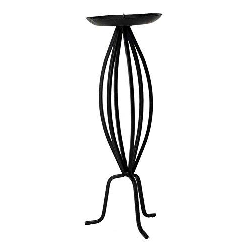 Mahagoni Stativ (Europäisch anmutende schmiedeeiserne Leuchter Ornamente Pastoralen Stil-Stativ montiert-Kerze-Halter-A)