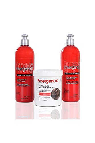 Intensive Hair-repair-therapie (TOQUE Magico EMERGENCIA Keratin Shampoo, Keratin Conditioner und Keratin Mask Set je 453 ml)