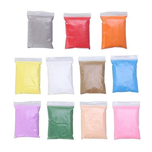 SUPVOX 10 Packungen farbiger Sand für Sandkunst, dekorativer Sand für Terrarien, Sandmalerei, Wunschflaschen (100 g/Pack)