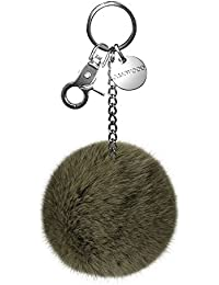 Oakwood Xena caqui bolsillo clave de piel colgante de luz (verde oscuro)