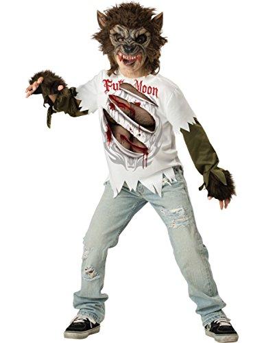 Werwolf Kostüm für Kinder 140/152 (10-12 (Wolf Kostüm Halloween Mädchen)