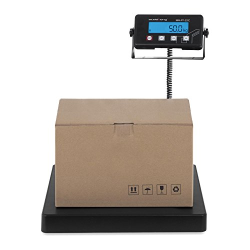 Steinberg Systems SBS-PT-300C Paketwaage Plattformwaage Digitalwaage (300 kg / 50 g, Wiegefläche 40 x 40 cm, LCD Display, Abschaltautomatik)