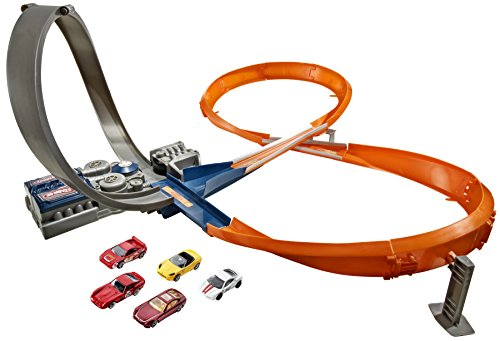 Hot Wheels - Pista da corsa 8 con 5 macchinine