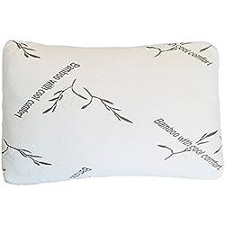 BAMBILLO L'oreiller modulable à Souhait et à mémoire de Forme à Base de Bambou 76 x 48 cm - Vu à la Télé