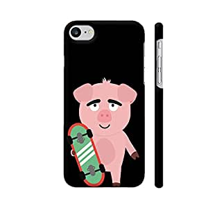 Colorpur Skateboard Pig with Boards Printed Back Case Cover for iPhone 7