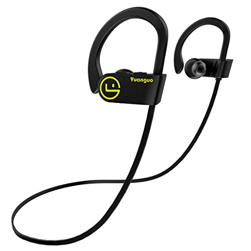 Bluetooth Kopfhörer 4.1 Arbily Best Wireless In-Ear Sport Kopfhörer für Laufen, wasserfest In-Ear Stereo Ohrhörerb mit noise cancelling, Wireless headset mit Mikrofon Für iOS, Android, iPad, Smartphones(Black) (Bluetooth Kopfhörer Für Android)