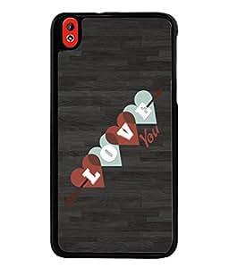 PrintVisa Designer Back Case Cover for HTC Desire 816 :: HTC Desire 816 Dual Sim :: HTC Desire 816G Dual Sim (Love You Hearts Arrow Cupid )