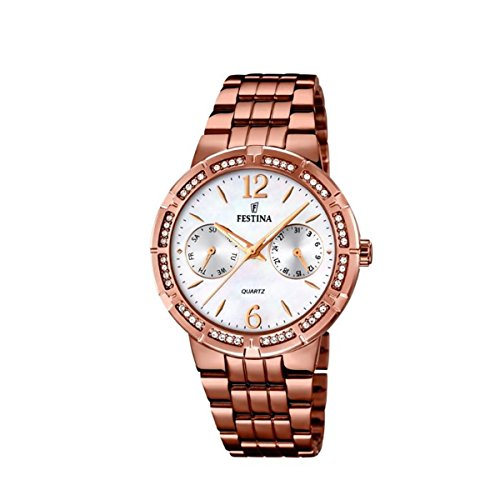 Festina Women's Quartz Watch Analogue Display and Stainless Steel Strap F16796/3