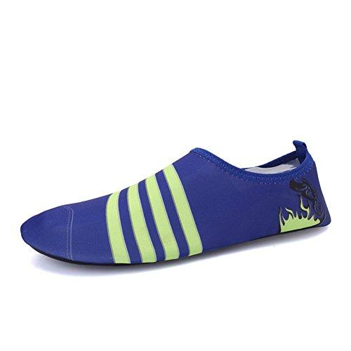 Eagsouni® Badeschuhe / Água Sapatos Sapatos / Aqua / Sapatos Flutuantes Anti-derrapante Sapatos Macios Para Homens Senhoras Crianças Bebê # 3blau