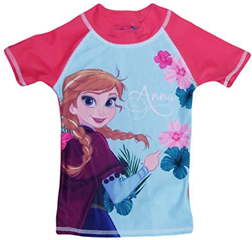 Disney Frozen Anna ELSA UV Schutz Badeanzug (Blau, 4 (Frozen Kostüm Kleinkind)