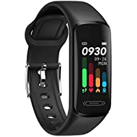 V101 Fitness Activity Tracker with Body Temperature Heart Rate Sleep Health Monitor, IP68 Waterproof Pedometer Steps…