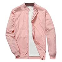 Men Solid Cardigan Coat, Male Long Sleeve Zipper Sweatshirt Jacket Stand Neck Outwear
