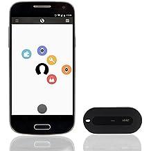 MYNT Localisateur intelligent et télécommande — Tracker portable avec boîtier en acier inoxydable: alerte en cas de perte de clés, de portefeuille, d'animaux de compagnie, chercheur de clés, d'objets, de téléphone, clic pour présentations Mac, déclencheur à distance pour selfies
