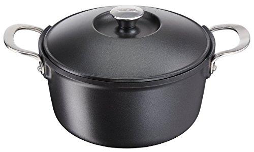 Tefal e2157014aroma de aluminio 4,8L inducción–olla de hierro fundido, negro