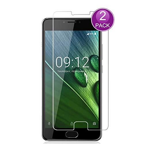 E-Hamii [2-Pack] Displayschutzfolie für Acer Liquid Z6 Plus, 9H gehärtetes Glas Schutzabdeckung, HD Schutzfolie Anti-Kratz und Anti-Fingerabdruck (Hinweis: Nicht Volldeckung)