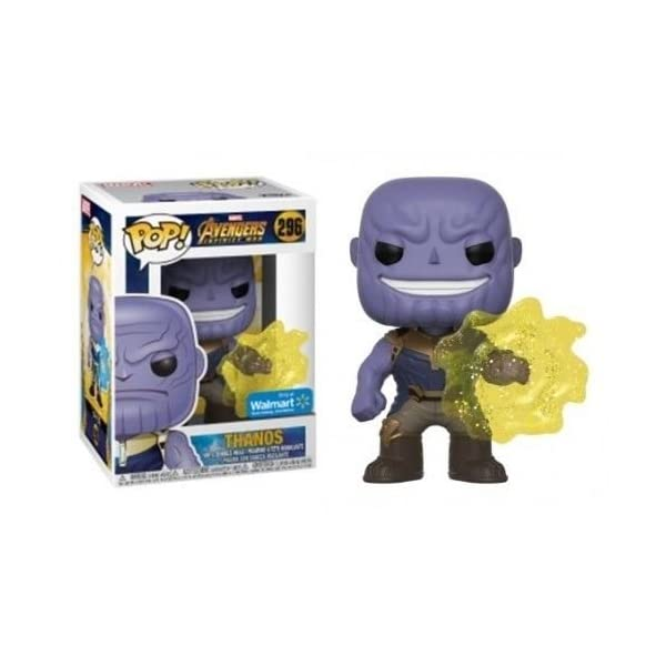 Funko POP Marvel EXCLUSIVE Avengers Infinity War Movie Thanos Using Infinity Gauntlet Collectible Figure