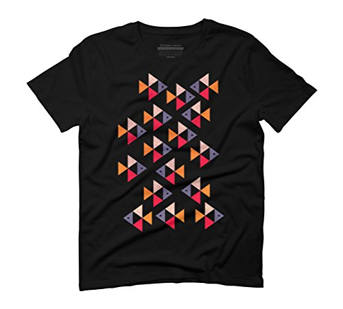 fishs geometric abstract Men's Graphic T-Shirt - Design By Humans Black