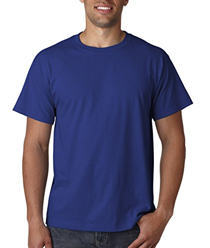 Fruit of the Loom Herren T-Shirt Blau (Admiral Blue)