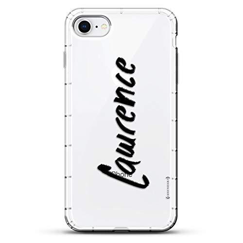 Luxendary Designer, 3D-Druck, modisch, hochwertig, Air-Pocket Kissen, Name: Lawrence, Handschrift-Stil, farblos