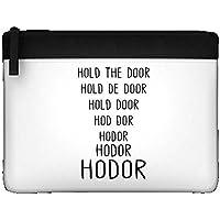 Hodor Tenere la porta nome origine Transistion Dichiarazione Astuccio con cerniera colorata fermo Holder Misura unica Black
