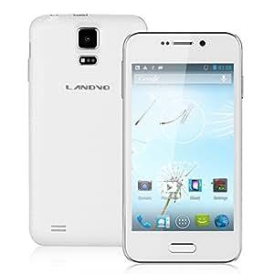 """Landvo L100 Smartphone Blanc Dual-Core MTK6572 1.0GHz avec 4.0"""" IPS écran 800 * 480 Android 4.2 Caméra arrière 2.0MP/ frontal 0.3MP support Double SIM 2G/3G, GPS, WIFI - Compatible avec Orange/ SFR/ Bouygues/Free etc + Excelvan Micro SD Carte 8G"""