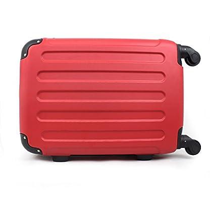 41qtP6urgPL. SS416  - Todeco - Maleta De Mano, Equipaje de Cabina - Tamaño: 49 x 35 x 21 cm - Material: Plástico ABS - Esquinas protegidas, Llevar-en 51 cm, Rojo, ABS