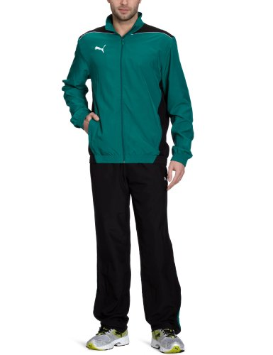 PUMA Herren Trainingsanzug Foundation Woven Suit, Team Green-Black, XL, 653093 05