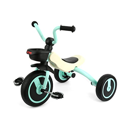 GOSFUN Dreirad Kinderdreirad ab 2 - 5 Jahre mit Klappfunktion (Körpergröße: 90-120/CM), stabiles Kinderfahrzeug Grün