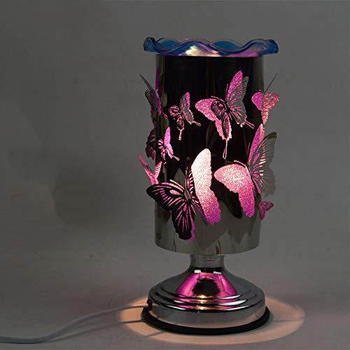 Fabrik direkt Schmetterling Duftlampe Plug-in Schlafzimmer Nachttischlampe kreatives Geschenk Dimmen ätherisches Öl Lampe Weihrauch Brenner Dimmschalter lila weiß -